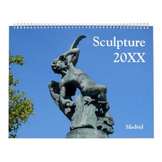 12-monatige Statuen u. Skulpturen Abreißkalender