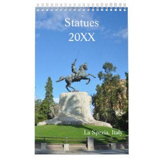 12-monatige Statuen Wandkalender