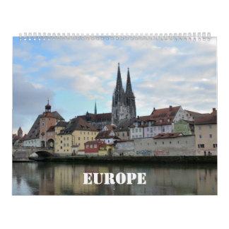 12-monatiger Europa-Wandkalender Wandkalender