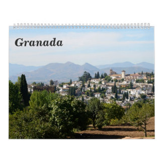 12-monatiger Granada-Wandkalender Wandkalender