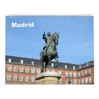 12-monatiger Madrid-Wandkalender Kalender