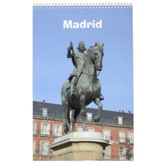 12-monatiger Madrid-Wandkalender Wandkalender