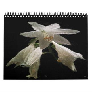 12-monatiger mit Blumenkalender Abreißkalender