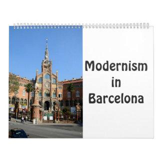 12-monatiger Modernismus in Barcelona Kalender