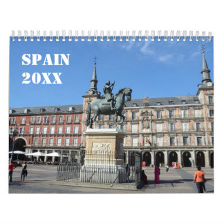 12-monatiger Spanien-Wandkalender Wandkalender