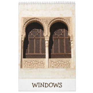 12-monatiges dekoratives Windows Kalender