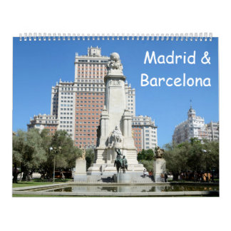 12-monatiges Madrid u. Barcelona Wandkalender