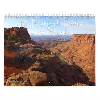 12 Nationalparks in 12 Monate, 4. Ausgabe Abreißkalender