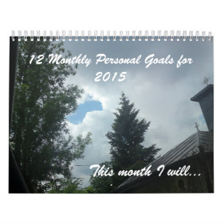 12 persönliche Ziele für 2017 inspirierend Wandkalender