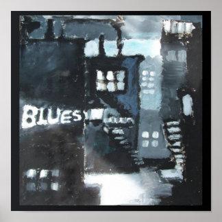 12 Plakat-zeitgenössische Kunst-'Blues des Poster