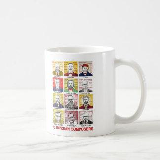 12 russische Komponisten Kaffeetasse