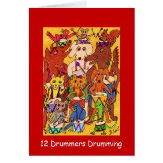 12 Schlagzeuger-Trommeln Karte