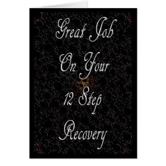 12 Schritt-Erholungs-Karte Karte