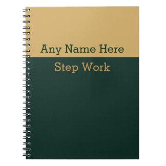 12 Schritt-Erholungs-Übungsteil-Zeitschrift Spiral Notizblock