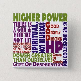 12 Schritt-höherer Power Quadratischer Button 5,1 Cm