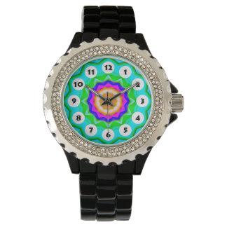 12 Stellen - bunte Mandala 035 Armbanduhr