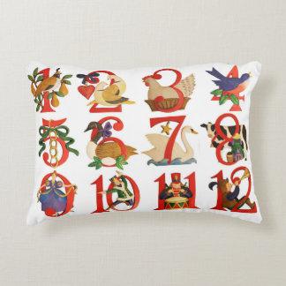 """12 Tage des Weihnachtsakzents Pillow 16"""" X12 """" Zierkissen"""