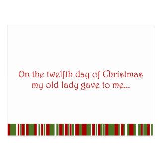 12 Tage eines Redneck-Weihnachten Postkarte