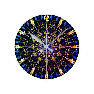 12 versahen Mandala-Uhr #1 mit Seiten Runde Wanduhr