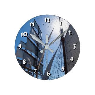 12 Zahl-Wahlen Wählen-Schiff Segel-Uhr Runde Wanduhr