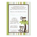 12x18 Affe-Zeit-Zoo-Tierbaby-Duschen-Einladung 12,7 X 17,8 Cm Einladungskarte