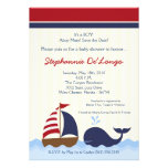 12x18 AhoyNautical Wal-Boots-Baby-Duschen-Einladun