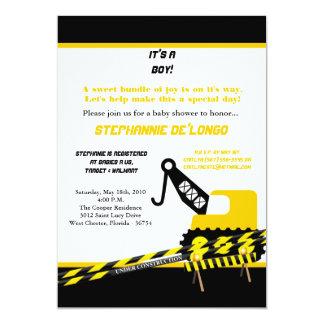 12x18 Bau-Jungen-Duschen-Einladung 12,7 X 17,8 Cm Einladungskarte