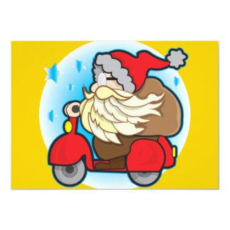 12x18 Einladungs-Klammer mit Weihnachtsmann Karte