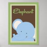 """12x18 """"Elefant-"""" Dschungel-Safari-Baby-Bettwäsche- Plakatdrucke"""