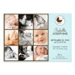 12x18 Foto-Collagen-blaues Baby-Geburts-Mitteilung