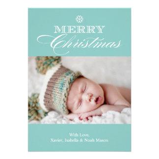 12x18 Foto-Feiertags-Karte froher Weihnacht- Ankündigung