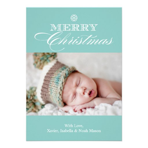 12x18 Foto-Feiertags-Karte froher Weihnacht-| Ankündigung