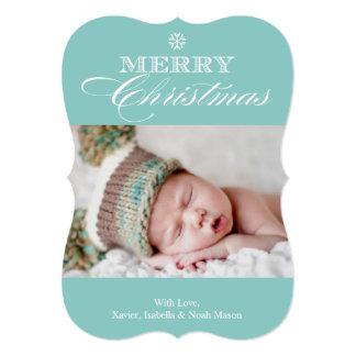 12x18 Foto-Feiertags-Karte froher Weihnacht-| 12,7 X 17,8 Cm Einladungskarte