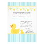 12x18 gelbe Ducky Baby-Duschen-Gummieinladung