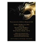 12x18 Halloween-Maskerade-Ball-Masken-Einladung