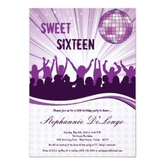 12x18 lila Tanz-Party-16. Geburtstags-Einladung 12,7 X 17,8 Cm Einladungskarte