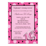 12x18 rosa Polka-Bonbon 16 Geburtstags-Party Einla Individuelle Ankündigungskarte