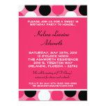 12x18 rosa Polka-Punkt-Bonbon 16 Geburtstags-Einla Personalisierte Einladungskarten