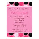12x18 rosa Polka-Punkt-Bonbon 16 Geburtstags-Einla Personalisierte Einladungen