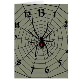 13 dreizehn Stunden-Spinnen-Uhr Karte