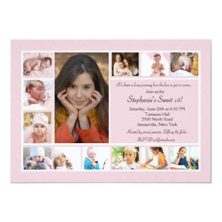 13 Foto-Collagen-vertikale Foto-Einladung 12,7 X 17,8 Cm Einladungskarte