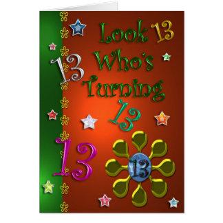 13. Geburtstag (Juwelen) Karte