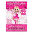 13. Geburtstags-Cheerleader-Tanzen, Sterne in den Karte