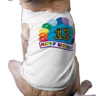 13. Geburtstags-Geschenke mit sortiertem Ballon-En Hundetshirts
