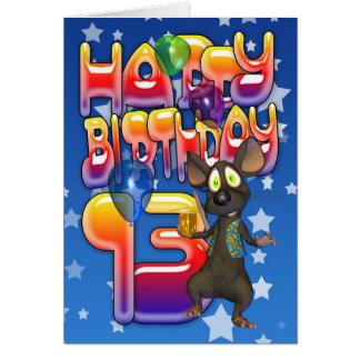 13. Geburtstags-Karte, alles Gute zum Geburtstag Karte