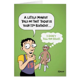 Lustige 13 Geburtstags Grußkarten U0026 Einladungen | Zazzle.de, Einladungs