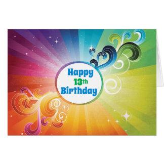 13. Geburtstags-religiöser Karten-Regenbogen-Segen Grußkarte