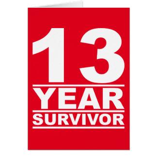 13-jähriger Überlebender Karte