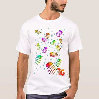 13 vibrierende Quallen - Männer (weiß) T-Shirt