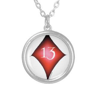 13 von Diamanten Versilberte Kette